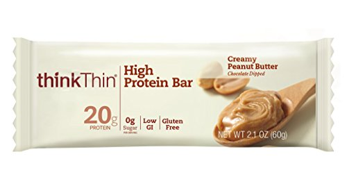 ThinkThin High Protein, Creamy Peanut Butter, 2.1 Ounce (pack of 10)