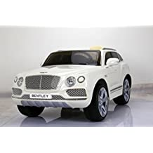 LICENSED BENTLEY STYLE RIDE ON CAR, WITH REMOTE CONTROL. 12V BATTERY, WHITE