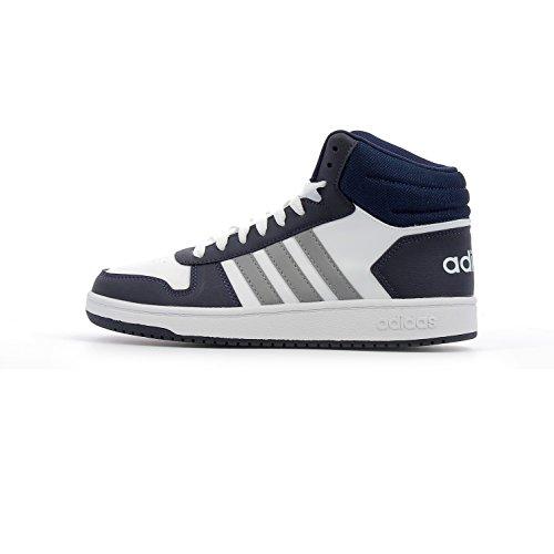 adidas Unisex-Kinder Hoops Mid 2.0 K Fitnessschuhe Footwear White / Grey Three / Collegiate Navy