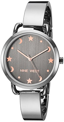 - Nine West Women's NW/2165GYGY Gunmetal Bangle Watch