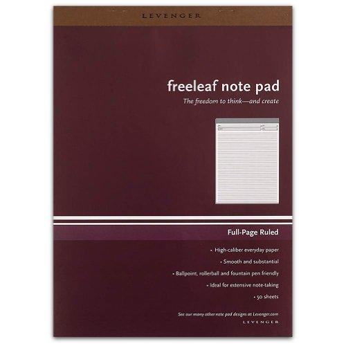 Freeleaf - Levenger Freeleaf Full Page Ruled Pads, Letter (5) (ADS5640)