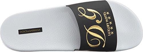Sandalo Slip-on Uomo Dolce & Gabbana Nero / Bianco