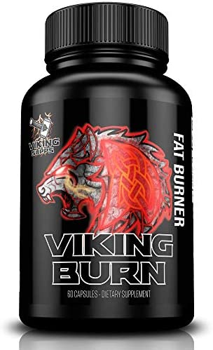 Viking Supps Viking Burn Fat Burner, Weight Loss Support Supplement with Green Tea, Caffeine, and Yohimbine - 60 Capsules (30 Day Supply) 1