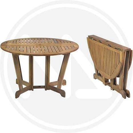 Tavolo Di Legno Pieghevole.Tavoli Tavolo Da Giardio Tondo In Legno Miele Pieghevole