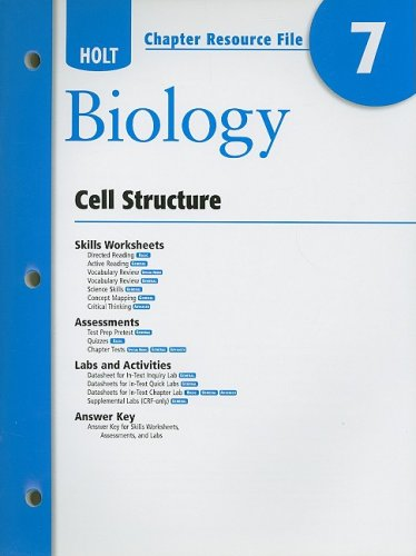 holt biology cell structure active reading answer key