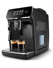 Philips Espressomachine 2200 serie - 2Koffievarianten - Touchdisplay - Klassieke melkopschuimer - Perfecte temperatuur en aroma - Keramische molen - EP2221/40
