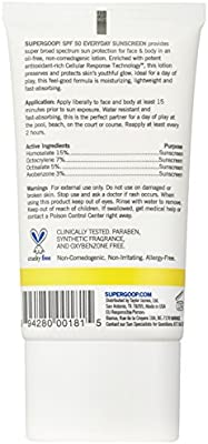 Supergoop! Everyday SPF 50 Sunscreen For Face and Body, with Sunflower Extract, 2.4 Fl Oz