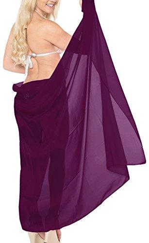 5 Modelle Sarong Badeanzug Schließe Strandkleidung Tuch Wickeltuch Pareo Wickelrock Strandtuch Handtuch Violett