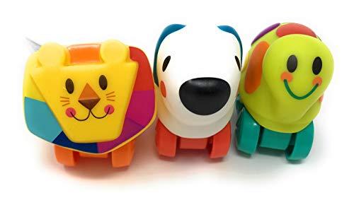 (Mini Wheel Pals Dog Turtle Lion Set of 3)