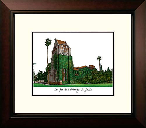 Campus Images CA929LR San Jose State University Legacy Alumnus Framed Lithographic Print