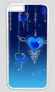 Abstract Blue Heart Fly DIY Hard Shell Transparent Designed For iphone 6 Case