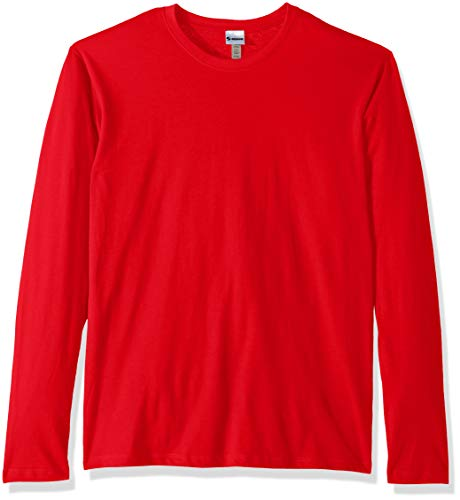 - Soffe MJ Men's CVC Long Sleeve Crew Neck Tee, red Medium