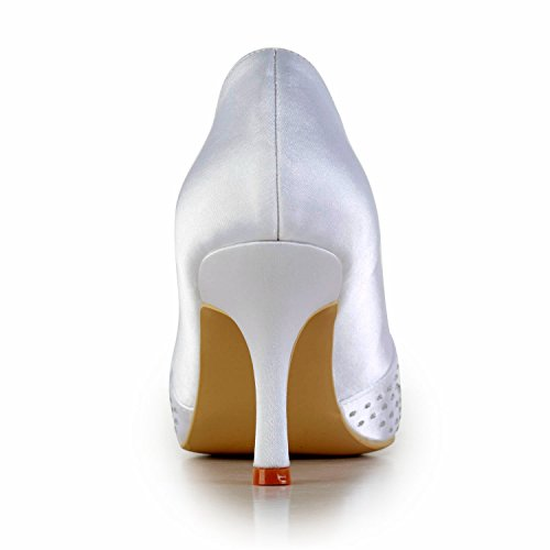pour blanc White Minitoo 8cm femme Heel Sandales wPqqf6