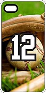 Baseball Sports Fan Player Number 12 White Rubber Decorative iPhone 6 Case