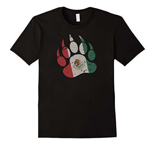 Mens Mexican Bear Paw - Gay Bear T-Shirt Small Black - Mexican Bear
