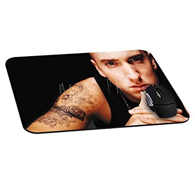 Office Rectangle Mouse Pad with Eminem Photos Image Cloth Cover Non-Slip Rubber Backing-Gaming Mousepad(8.7x7.1x0.12 Inch)