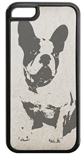 Puppy Silhouette- Case for the Apple Iphone 5C- Hard Black Plastic Snap On Case with Soft Black Rubber Lining Outer Shell with Inner Soft Black Rubber Lining