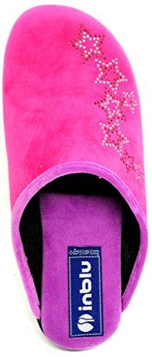 Inblu pantofole ciabatte invernali da donna art. Bq-118 fuxia