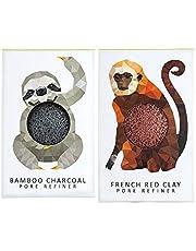 The Konjac Sponge Company Mini Pore Refiner Gift Set - Sloth and Monkey, (Pack of 2)