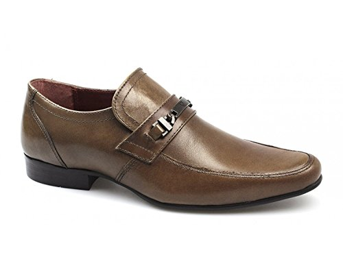Red Tape by CLB Mocassini Uomo, Marrone (Brown Buckle), 40