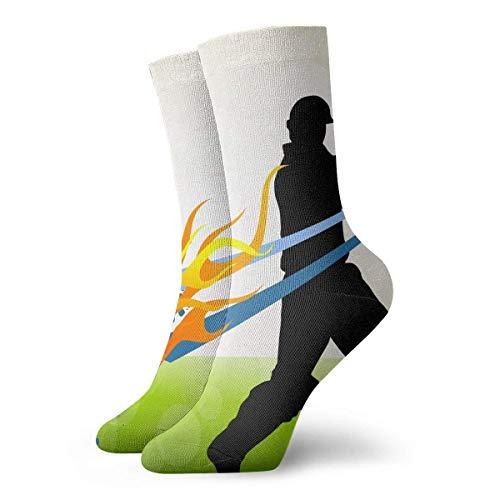 Socks Cricket Hit Women & Men Socks Soccer Sock Sport Tube Stockings Length -