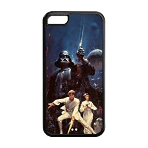 Custom Star Wars Darth Vader Inspired Design PC Case Back Cover For Iphone 5c iphone5c-NY581