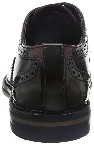 Ted Baker 915866, Zapatos Brogue Hombre Negro (Dk Grey)