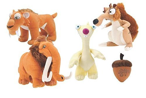 ICE AGE - 9 INCH PLUSH SET - 5 PIECE SET