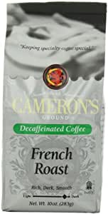 Cameron's French Roast Decaf Ground Coffee, 10-Ounce Bags (Pack of 3)