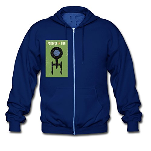 Herveaud's Forever USA Star Trek Teens Zipper Hoodie Blue X-Large (Captain Kirk Outfit)