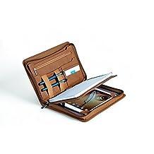 XIAOZHI Compact Professional Leather Organizer Padfolio for iPad mini 4, Junior Legal (A5) Paper