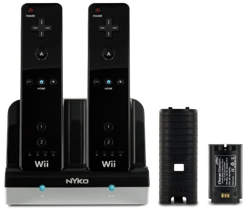 Nyko Charge Station for Wii/Wii U (Black) (Remote Wall Standard Station)