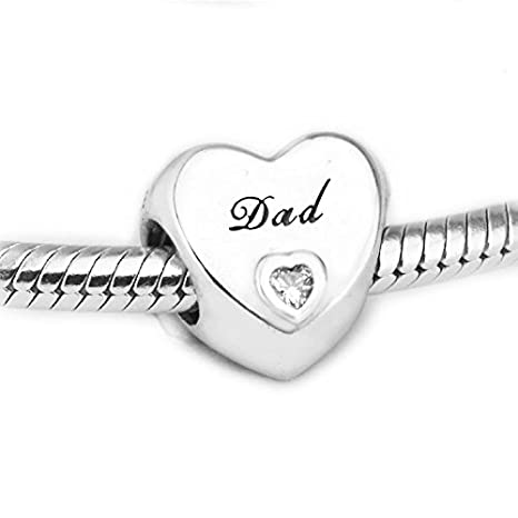 b1e6665276b4 funshopp Europea Otoño Dad 's Love corazón abalorios DIY para para ...