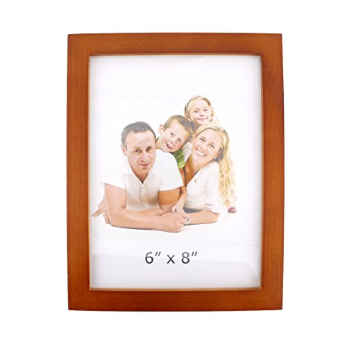 6x8 Classic Rectangular Wood Desktop Family Picture Photo Frame with Glass Front (6