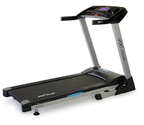 JTX Sprint-5 Motorised Treadmill: 18kph, Foldable,...