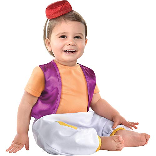 Kids Aladdin Costume (Party City Aladdin Halloween Costume for Babies, Aladdin Animated, 12-24 Months, Includes)