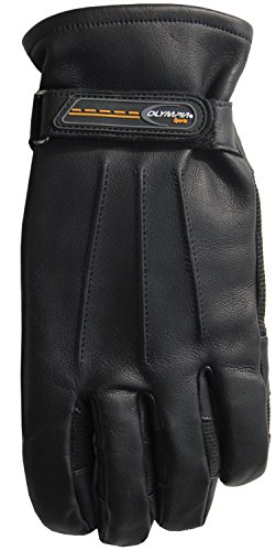 Olympia Sports Men's Lined Roper Touch Gloves (Black, Small) from Olympia Sports