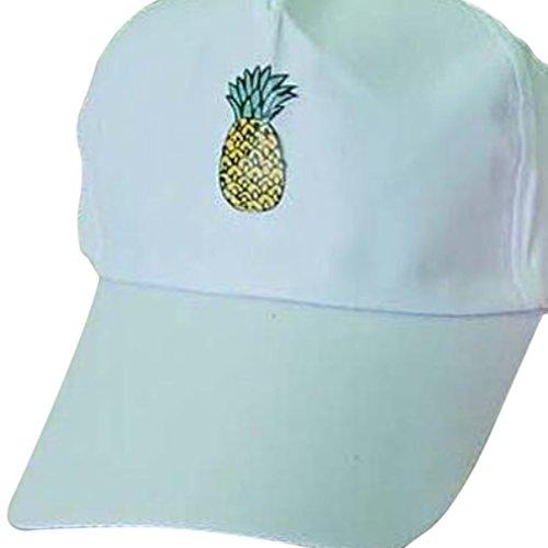 Casual Xianshu béisbol Blanco unisex sombrero Gorra de Sport impresión piña zqzwOB8rX