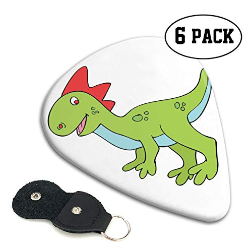 Nice Music Halloween Cute Dinosaur Clipart Ultra Thin 0.46 Med 0.71 Thick 0.96mm 4 Pieces Each Base Prime Celluloid Ivory Jazz Mandolin Bass Ukelele Plectrum Guitar Pick Pouch Display