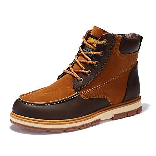 Soft stringati Boots Fashion antiscivolo da Marrone Stivaletti 43 uomo Casual Jincosua Dimensione Colore EU Sole Inverno HqaWSnvw