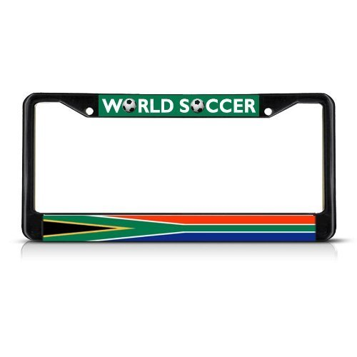 Guang trading SOUTH AFRICA Soccer Team Black Metal Heavy Duty License Plate Frame Tag Border by Guang trading