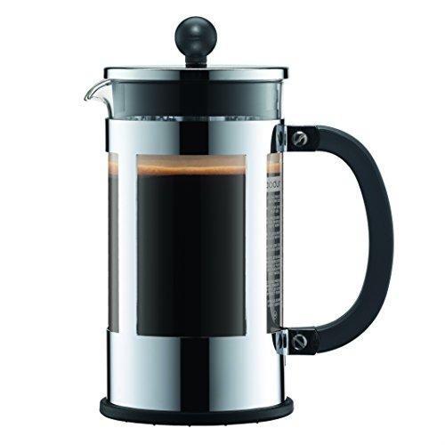 Bodum Kenya 8 Cup French Press Coffee Maker, Chrome, 1.0 l, 34 oz Bodum Chrome Coffee Maker