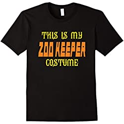 Mens This is My Zoo Keeper Costume T Shirt XL Black