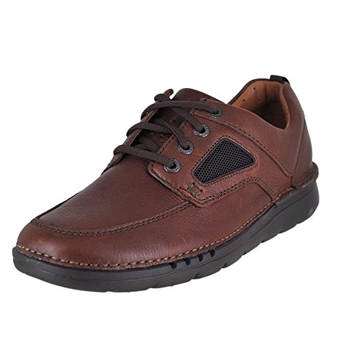 CLARKS Unnature Time Mens Lace Up Oxfords Brown Leather (Time Brown Leather)