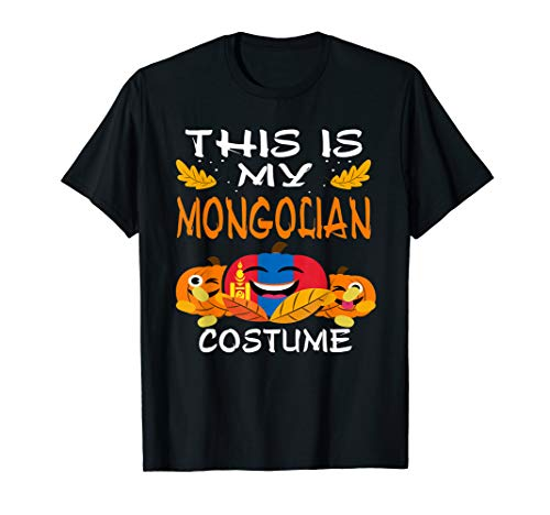 Mongolia Flag Partriot Halloween T-Shirt Mongolian