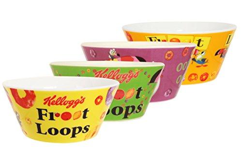 Kellogg 's Froot Loops Bowls (Conjunto de 4), Multi
