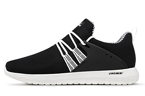 for White Sports Upper Running Soft Men Mesh Lightweight Black Sneakers Women OneMix 01F7W