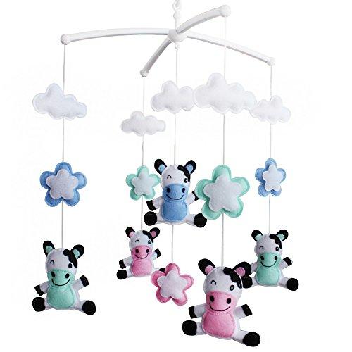 Baby Crib Mobile, Baby Boy & Girl Gift Mobile [Cows, Colorful]