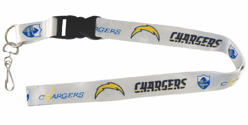 NFL Sd Chargers Retro Lanyard, White/Powder Blue, One Size