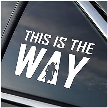 Seek Racing This is The Way Mando Decal CAR Truck Window Bumper Sticker Cute Badass Cool